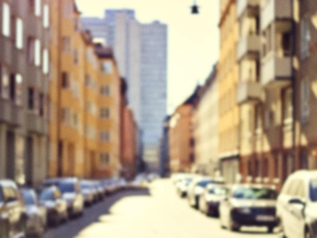 Stadsvy Bondegatan 30 på Södermalm i Stockholm