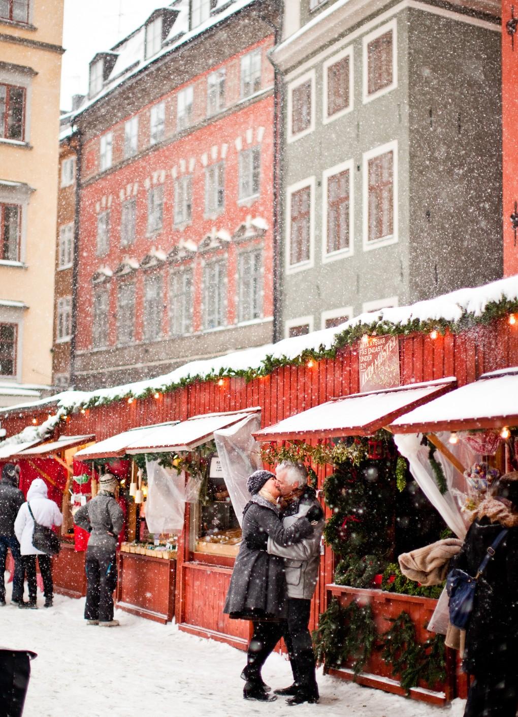 Vinterdag i Gamla stan till Nordea bildbank