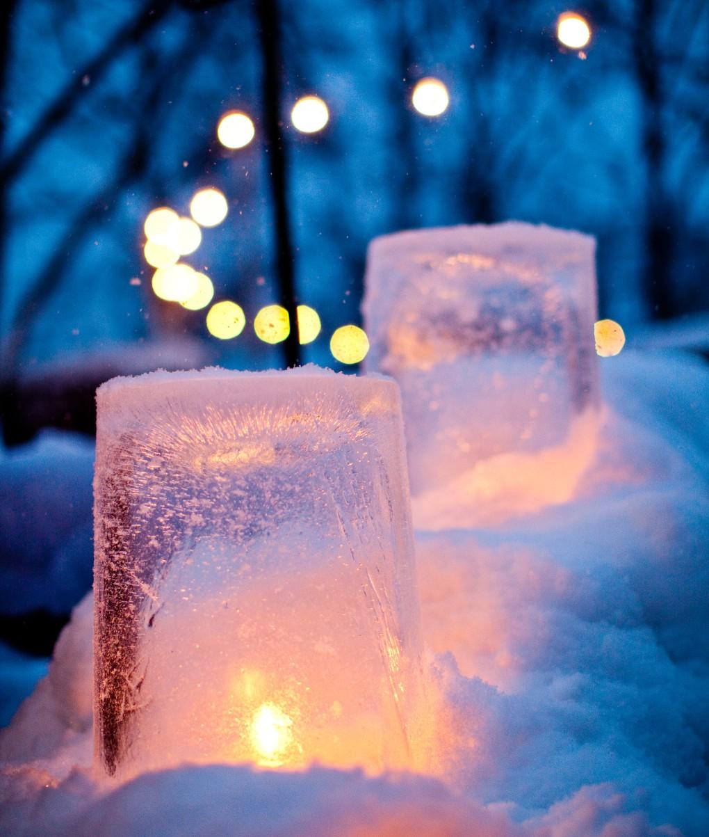 Vinterdag på Skansen till Nordea bildbank