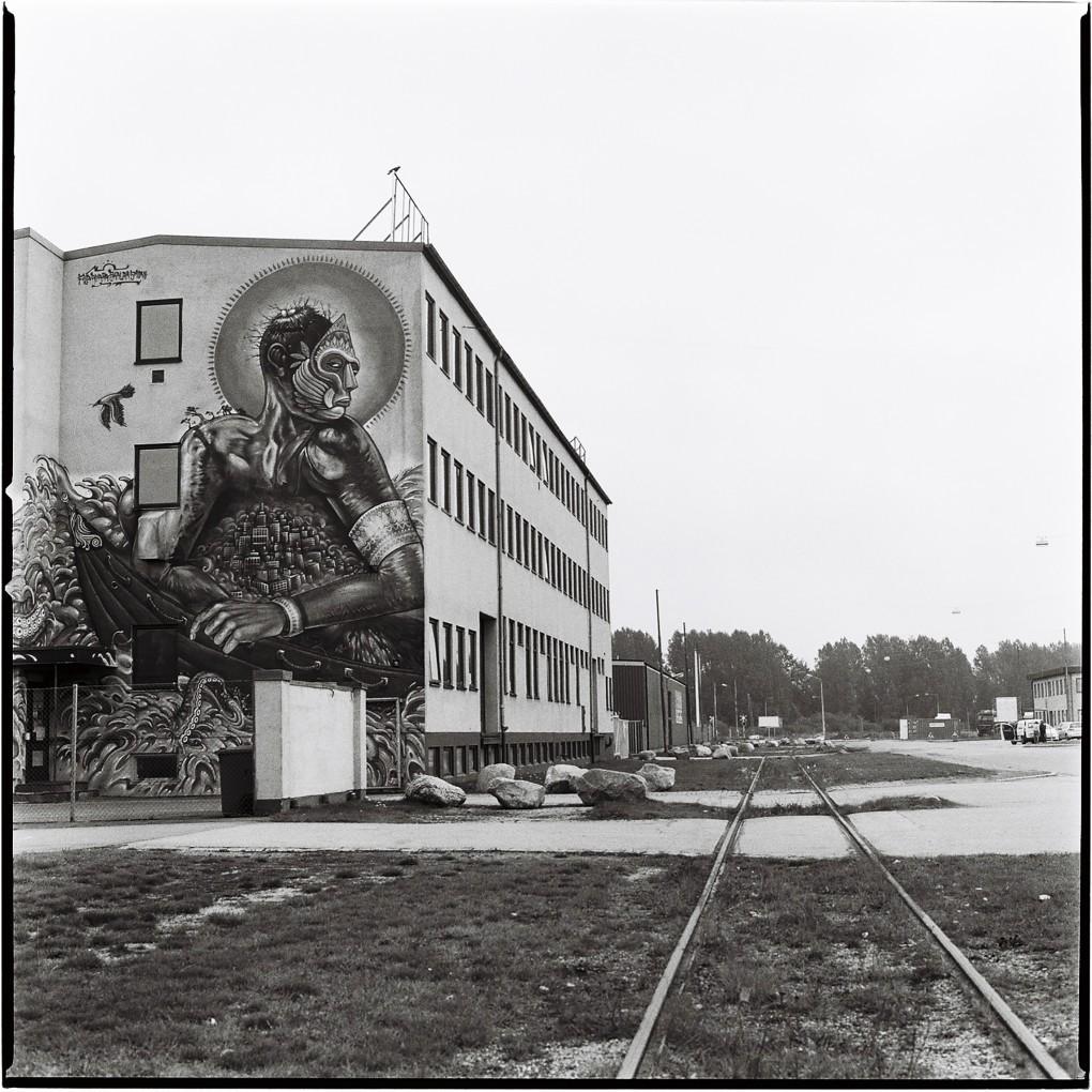 Industri arkitektur i Malmö. Fotograferat analog mellanformat med en Hasselbladkamera