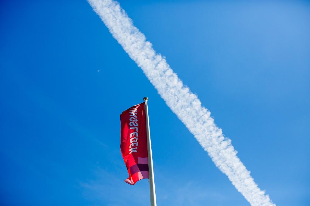Flagga med Kungsledens logga