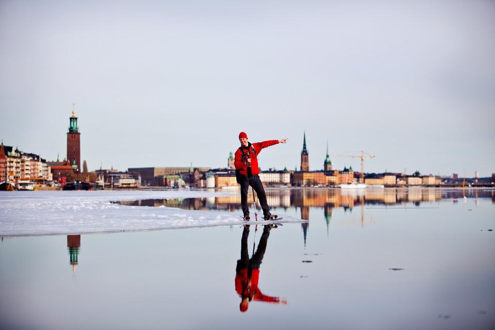 Fotografier från friluftslivet i Stockholm city åt Nordea bildbank