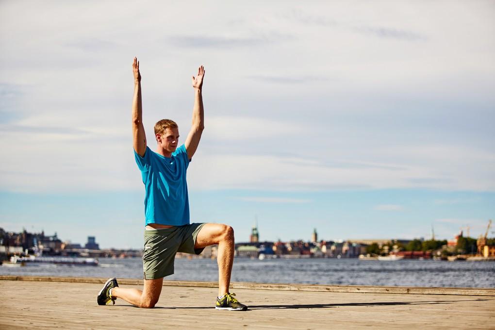 Fotografi av rehab övningar inför Lidingöloppet år Praktikertjänst bildbank