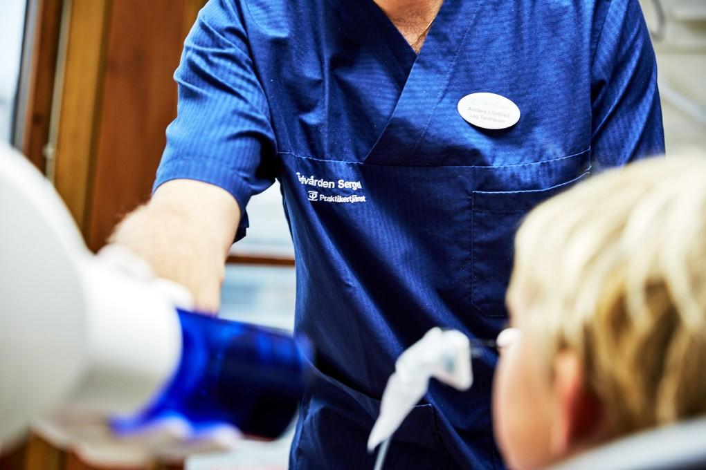 Detaljbild åt Praktikertjänst bildbank från tandläkarmottagning