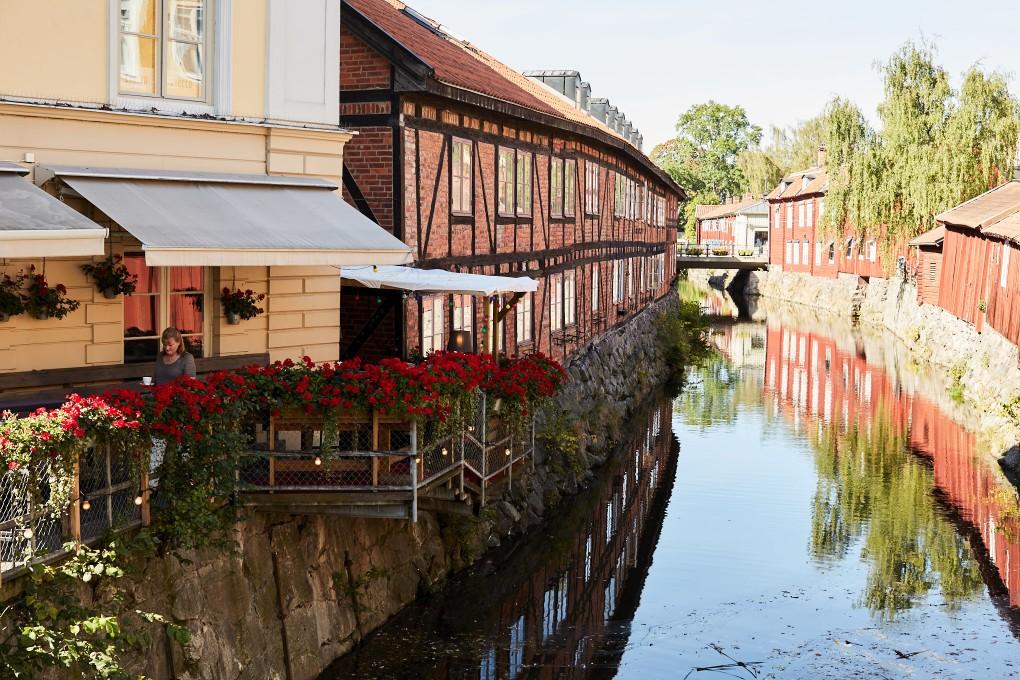 Miljöbild kring Kungsledens fastigheter i centrala Västerås