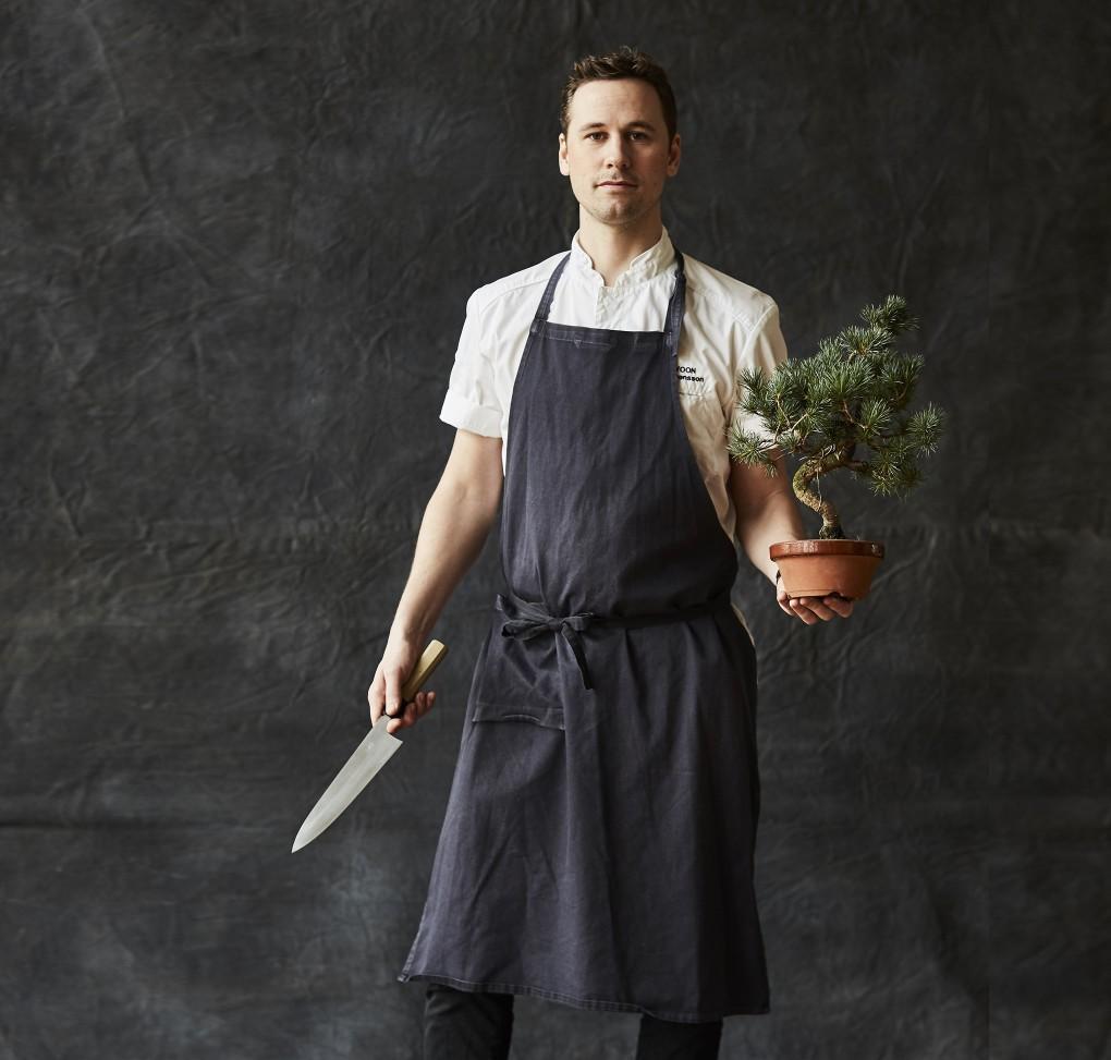 Porträtt av kock, köksmästare på Miss Voon Jonas Svensson fotografrat av Paulina Westerlind