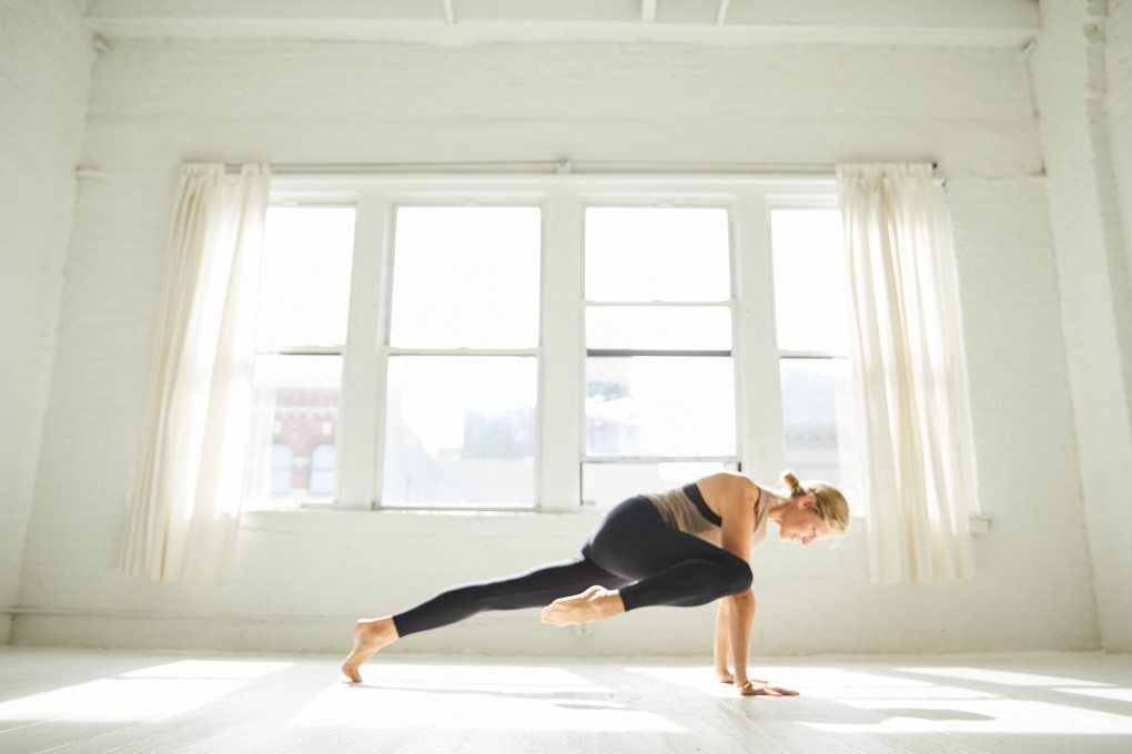 Powerfull Yoga portraits of Camilla Ahlqvist who runs The Practice, a powerfull yoga and dance inspired training. Photographed in NYC by Paulina Westerlind