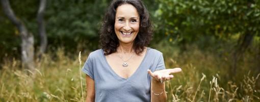 Makeup artist och life coach och kock Catherine Dichy, författare av boken Naturligskönhet. Porträtt taget av Paulina Westerlind
